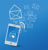 Sending SMS — Stock Vector