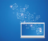 Sending E-mail — Stock Vector