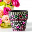Royalty-Free Stock Photo: Mosaic flower pot