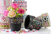 Mosaic flower pot — Stock Photo
