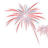 Firework design on white background — Stockvector