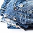 Blue jeans on white background — Stock Photo #37947655