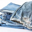 Blue jeans on white background — Stock Photo #37947765