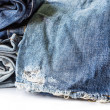 Blue jeans on white background — Stock Photo #37947955