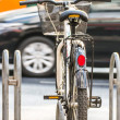 Bicycle parking on sidewalk — Stock Photo #37979055