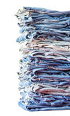 Blue jeans on white background — Stock Photo
