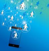 Progettazione della rete sociale — Vettoriale Stock