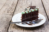 Mint choholate cake — Stock Photo