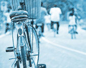 Cycling on a rainy day — Stock Photo