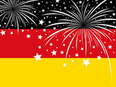 Firework design on germany flag — Stock Vector