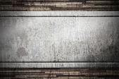 Metal on wood background — Photo