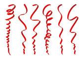 Set of red ribbons design — Vector de stock