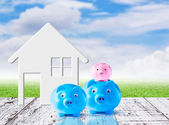 Business concept of saving for family — Стоковое фото