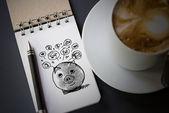 Alcancía y diseño de iconos para representar el concepto de ahorro de dinero — Foto de Stock