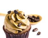 Coffee cupcakes on white background — Foto de Stock