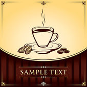 Cup of Coffee Vector Background — Vettoriale Stock