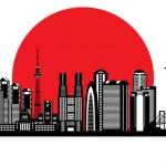 Tokyo city silhouette — Stock Vector #21515313