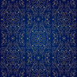 Floral vintage seamless pattern on blue background - Stock Vector