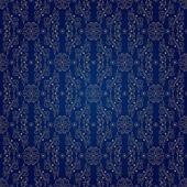 Wzór kwiatowy wzór na niebieskim tle — Wektor stockowy