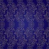 Květinové vinobraní bezešvé vzor na fialové pozadí — Stock vektor