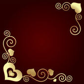 Valentine's day background with hearts — Stock Vector