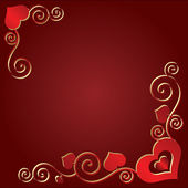 Fondo de San Valentín con corazones — Vector de stock