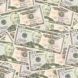 Fifty dollars banknotes background — Stock Photo