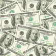 Stock Photo: One hundred dollars banknote background