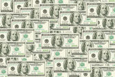 One hundred dollars banknote background — Stock Photo