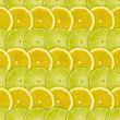 Abstract background with citrus-fruits slices of lemon and lime — Stock Photo #23559645
