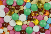 Abstract background made of colorful pills — Stock Photo
