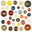 Collection of various buttons on white background — Stock Photo