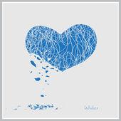 Winter heart — Stock Vector