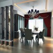 3d Dining room rendering — Stock Photo