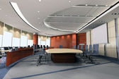 3d meeting room — Stock Photo