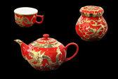 Czerwona herbata zestaw — Zdjęcie stockowe