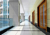 3d futuristic corridor — Stock Photo