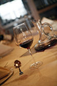 Wine and glass — Stock Photo