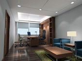3d modern office room — Stockfoto