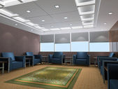 3d reception room rendering — Stock Photo
