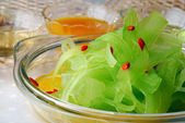 Balsam pear salad — Stock Photo