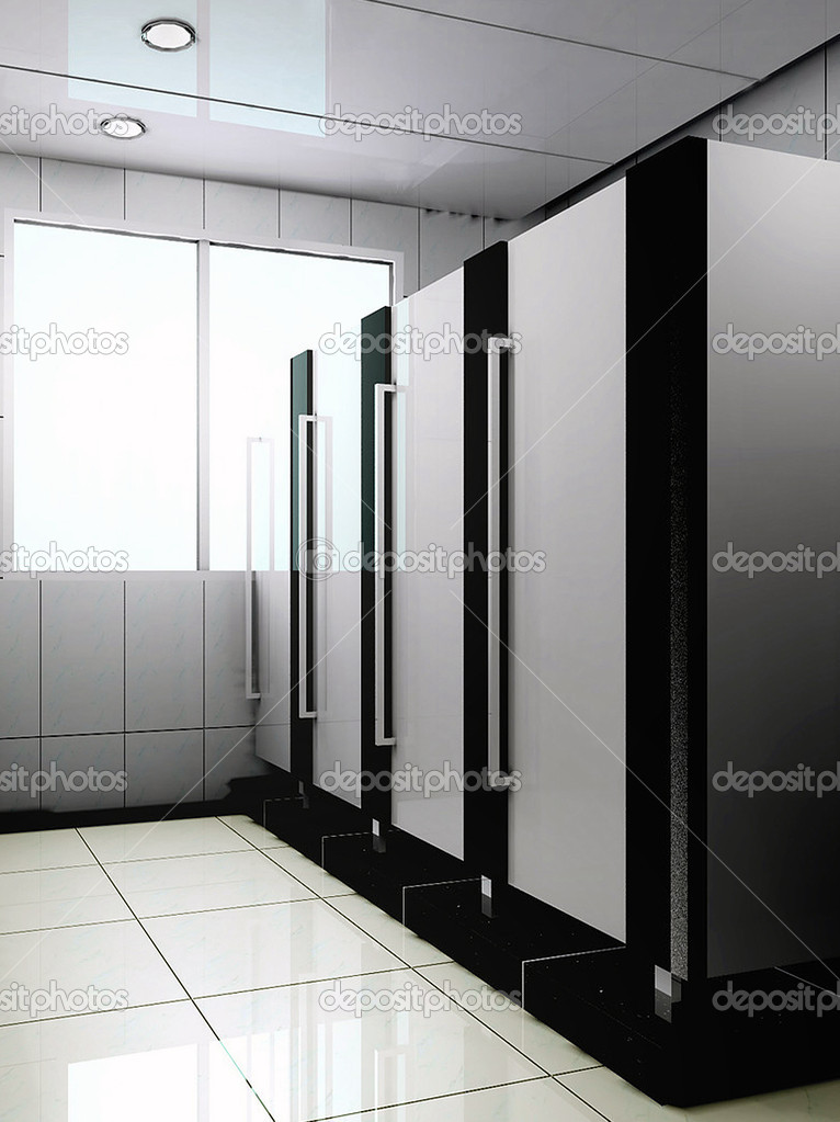 Diseno De Baño Publico:Baño público 3D — Foto de stock © wxin67 #19488487