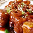 Food in china-- pig intestine — Stock Photo