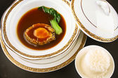 Food in china. abalone and rice — Foto Stock