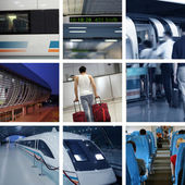The newest maglev train in china — Stock Photo