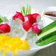 Stock Photo: Food in china-- vegetable receive favors sweet sauce