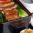 Food in china--pork ribs and rice — Stock Photo