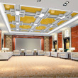 3d reception room rendering — Stock Photo #20026301