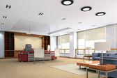 3d modern office room — Stock Photo