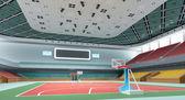 3d indoor gymnasium — Stock Photo